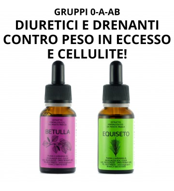 Betulla + Equiseto — diuretici e drenanti contro peso e cellulite