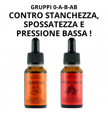 Quercus + Rosa Canina — contro stanchezza, spossatezza e pressione bassa